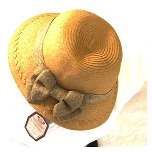 SUN N' SAND BEACH LINEN BOW ADJ. HAT HEADWEAR NEW
